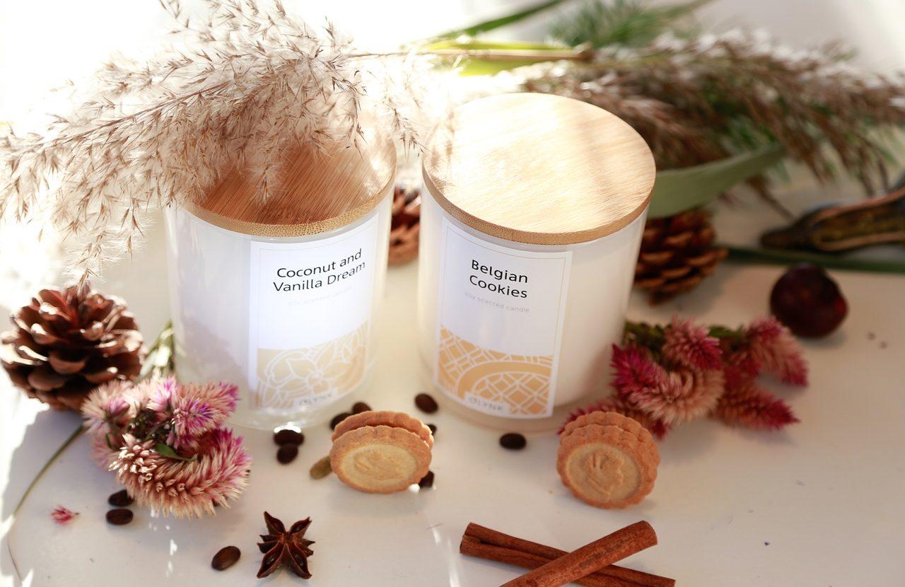 Świeca o słodkim zapachu: belgijskie ciasteczka, a może wanilia i kokos?